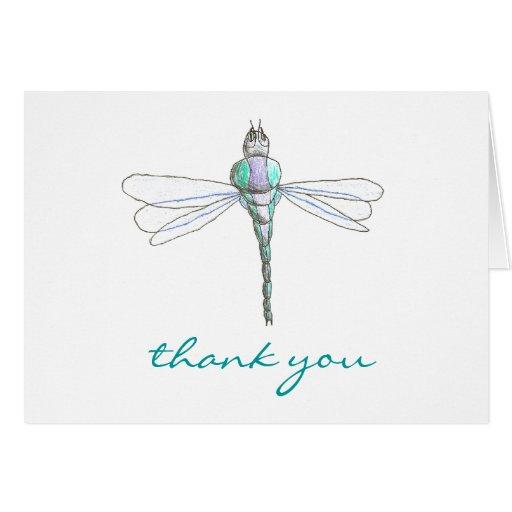 De agradecimiento de la libélula de los gráficos d tarjeta