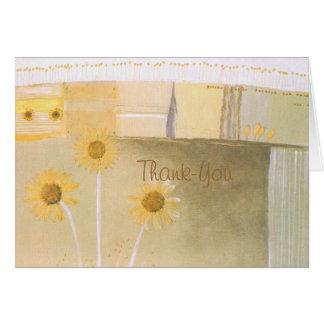De agradecimiento de las margaritas o nota tarjeta pequeña