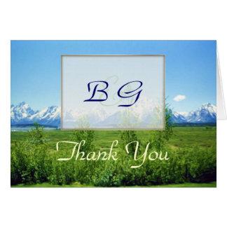 De agradecimiento del BODA de Tetons de la Tarjeta De Felicitación
