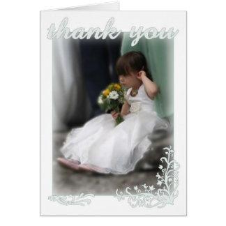 De agradecimiento del boda tarjeta de felicitación