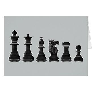 De agradecimiento del coche del ajedrez tarjeta de felicitación