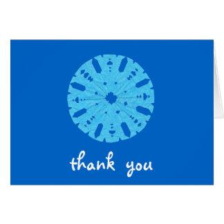 De agradecimiento del copo de nieve del Kat del ka Tarjeton