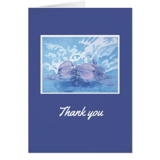 De agradecimiento del delfín tarjeta pequeña