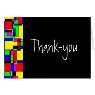 De agradecimiento (espacio en blanco dentro) tarjeta de felicitación