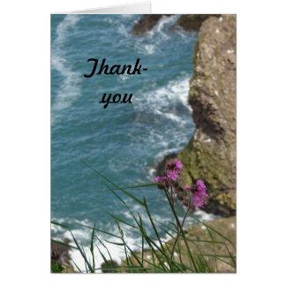 De agradecimiento florido de Cliffside Tarjeta De Felicitación