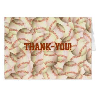 De agradecimiento Notecards de los béisboles Tarjeta Pequeña