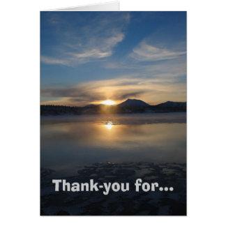 De agradecimiento para la belleza tarjeta pequeña