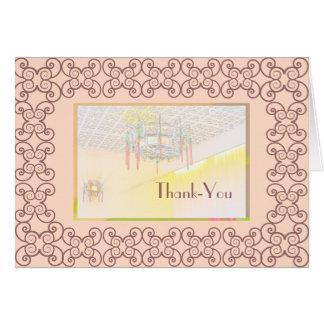 De agradecimiento para la tarjeta de la cena