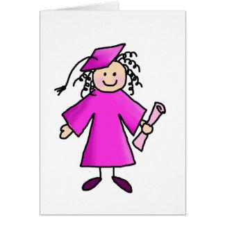 De agradecimiento rosado de la graduación felicitaciones