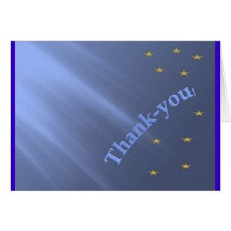 De agradecimiento tarjeta de felicitación