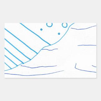 De aguas pegatina rectangular
