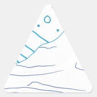 De aguas pegatina triangular