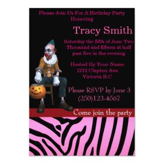 De buen gusto invitación del cumpleaños del payaso