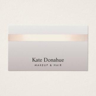 De color topo elegante moderno rayado del oro tarjeta de visita