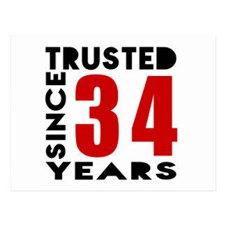 De confianza desde 34 años postal