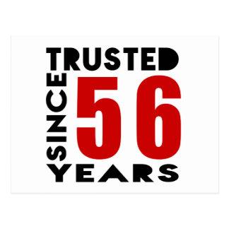 De confianza desde 56 años postal