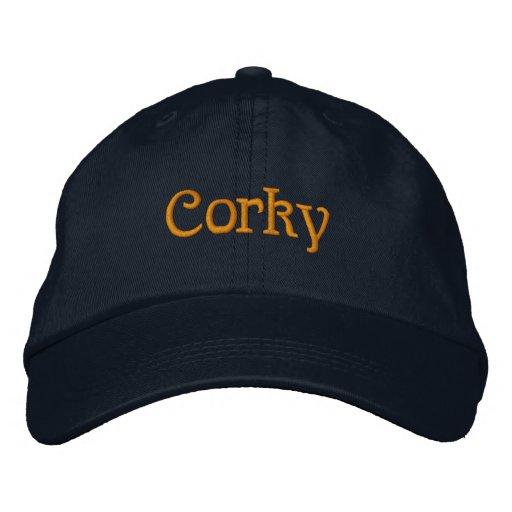 De corcho gorras bordadas