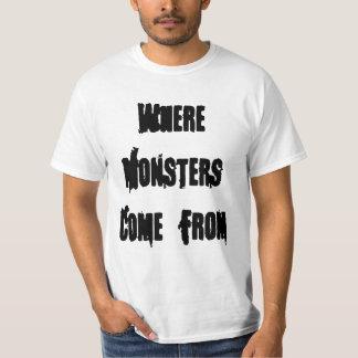 De donde los monstruos vienen camisas