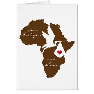 De Etiopía con invitaciones de la adopción del