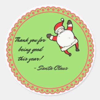 De etiqueta del regalo de Santa