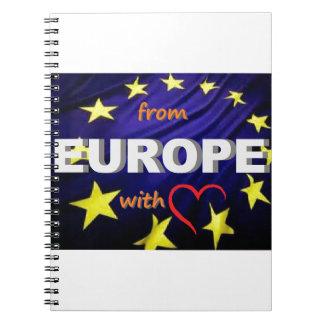 de Europa con amor Cuaderno