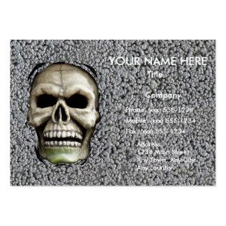 ~ de FUSIÓN del ~ del HOMBRE (diseño de Halloween) Tarjetas De Visita Grandes