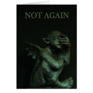 De Gargoyle~not tarjeta de cumpleaños otra vez