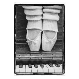 De gran tamaño blanco y negro del dúo del ballet fotografías