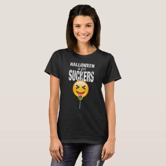 De Halloween Emoji de la lengua camisa divertida
