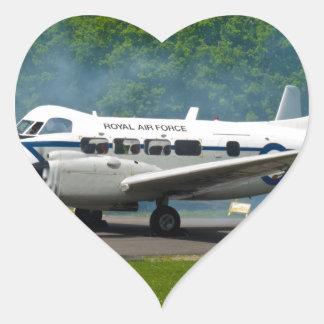 de havilland DH104 Devon Pegatina En Forma De Corazón