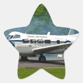 de havilland DH104 Devon Pegatina En Forma De Estrella