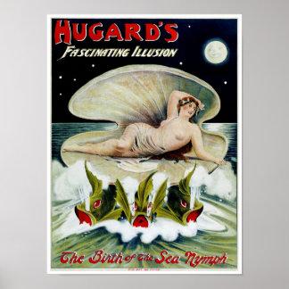 ~ de Hugards el nacimiento de la ninfa de mar Poster