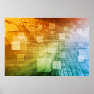 De informática como arte abstracto del fondo