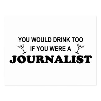 De la bebida periodista también - postales