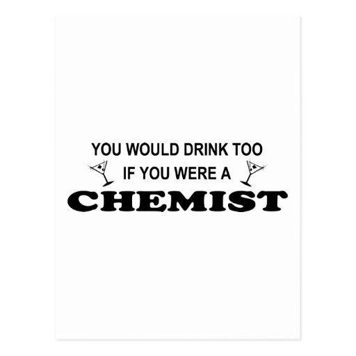 De la bebida químico también - postales