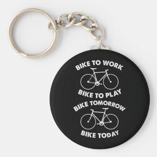 De la bici ciclo fresco para siempre - llavero redondo tipo chapa
