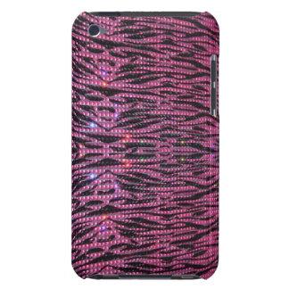 De la cebra rosada de BLING caja gráfica femenina Cubierta Para iPod De Barely There