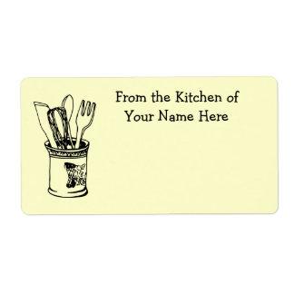De la cocina de la comida que cocina la etiqueta etiqueta de envío