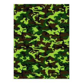 ~ de la élite del camuflaje (verde de la selva del invitación 16,5 x 22,2 cm