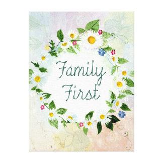 De la familia cita inspirada primero lienzo