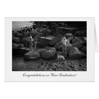 De la familia del día enhorabuena hacia fuera - en tarjeta de felicitación
