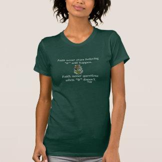 De la fe cruz de la flor de la camiseta w/Blue
