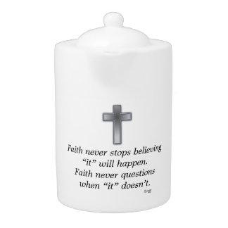 De la fe cruz de la tetera w/Blue nunca