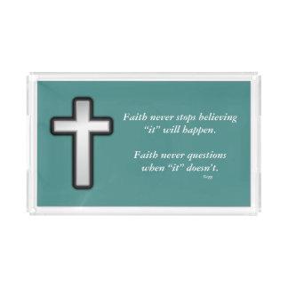 De la fe cruz del esquema de la bandeja w/Black de