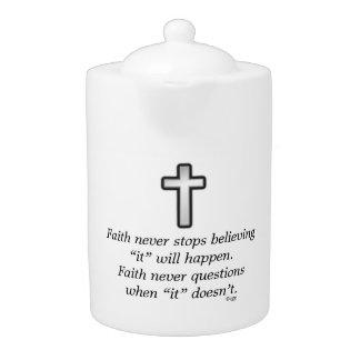 De la fe cruz del esquema de la tetera w/Black
