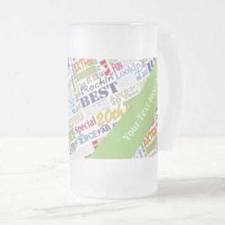 De la fiesta regalos únicos y vigésimos de taza de cristal esmerilado
