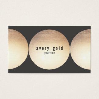 De la hoja del círculo de visita tarjeta moderna y