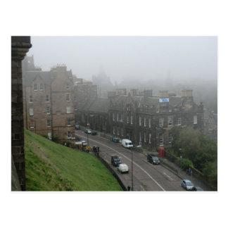De la independencia bandera escocesa sí en postal