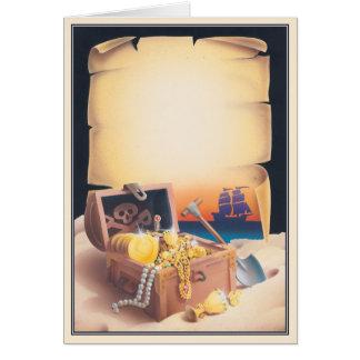 © de la isla del tesoro tarjeta de felicitación