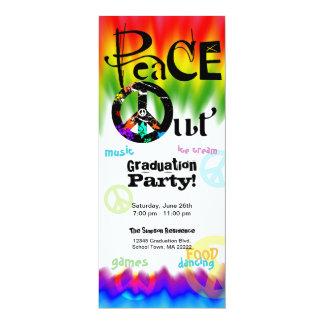 De la paz invitación de la graduación hacia fuera